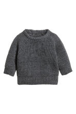 Merino wool jumper - Dark grey marl - Kids | H&M 1